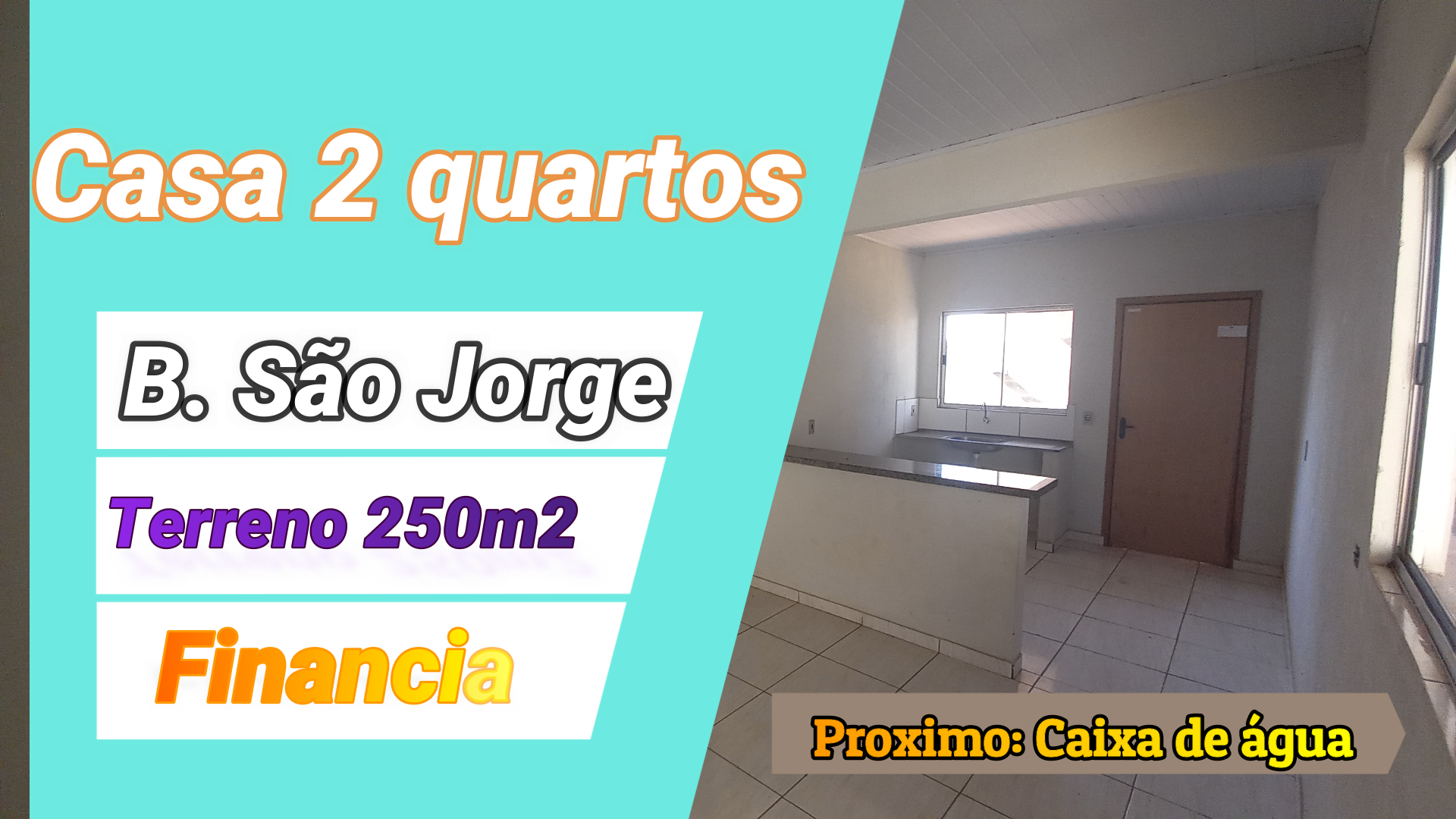 Casa 2 quartos no São Jorge, próximo a caixa de água